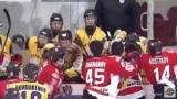 Матч лидеров чемпионата Украины-хоккей забил массовая драка