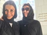 Подруг игроков Реал мадрид побрел в хиджабе в Абу-Даби